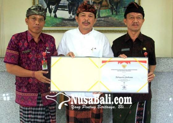 Nusabali.com - akuntabilitas-kinerja-naik-pemkab-jembrana-raih-penghargaan-sakip