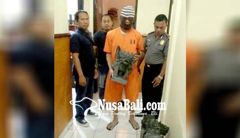 www.nusabali.com-pencuri-patung-singa-berhasil-diringkus