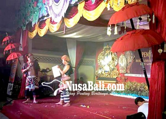 Nusabali.com - sosialisasi-pilgub-kpu-bangli-pentas-budaya