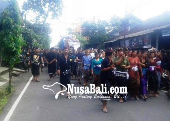 Nusabali.com - pengabenan-made-rai-sina-istri-pingsan-dibawa-ke-puskesmas