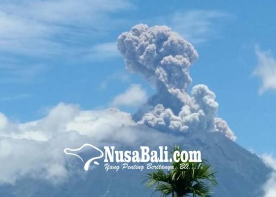 Nusabali.com - gunung-agung-kembali-meletus