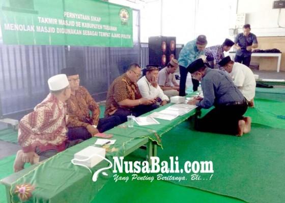 Nusabali.com - dmi-tabanan-tolak-masjid-jadi-ajang-politik