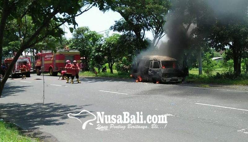 www.nusabali.com-minibus-terbakar-bus-terjun-ke-sawah