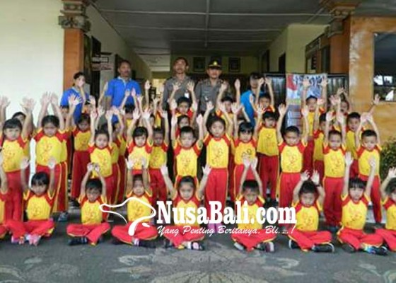 Nusabali.com - mapolsek-payangan-didatangi-anak-anak-tk