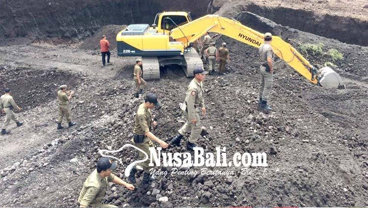 www.nusabali.com-satpol-pp-sidak-galian-c-di-karangasem
