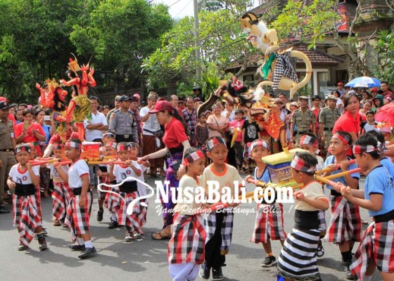 Nusabali.com - parade-ogoh-ogoh-anak-semarakkan-rangkaian-nyepi
