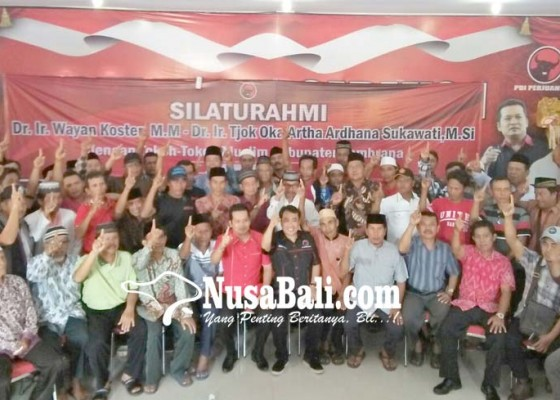 Nusabali.com - tokoh-muslim-jembrana-kumpul-di-dpc-pdip
