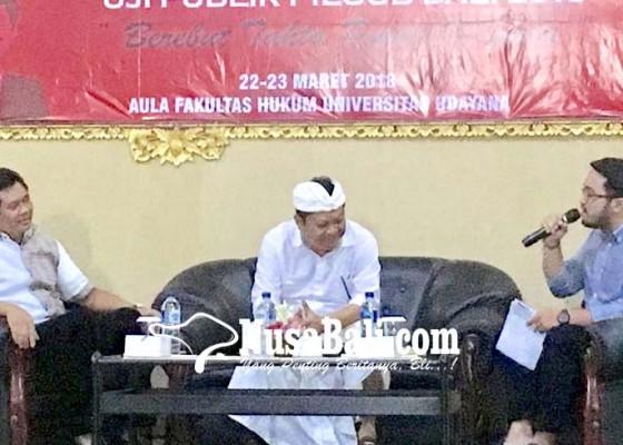 Nusabali.com - guru-besar-dan-mahasiswa-unud-uji-paslon-mantra-kerta
