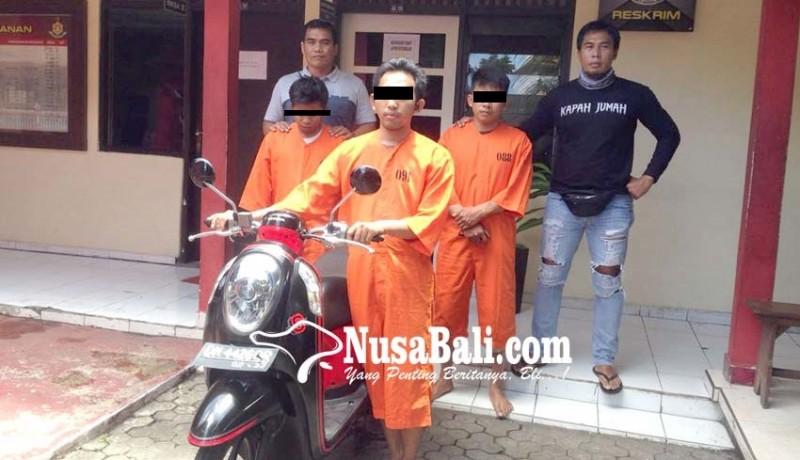 www.nusabali.com-transaksi-motor-curian-tiga-sekawan-dijuk-polisi