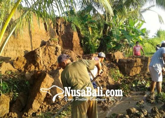 Nusabali.com - jalan-satung-buahan-tertimbun-longsor