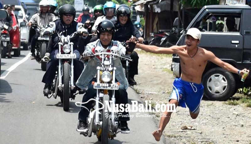 www.nusabali.com-jokowi-touring-naik-motor-ke-sukabumi