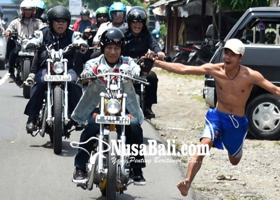 Nusabali.com - jokowi-touring-naik-motor-ke-sukabumi