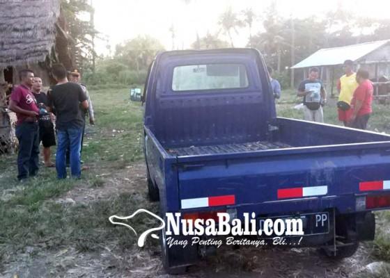 Nusabali.com - pick-up-hilang-ditemukan-parkir-di-pantai