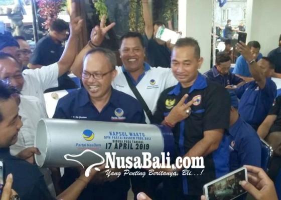 Nusabali.com - nasdem-bali-luncurkan-kapsul-waktu-pemilu-2019