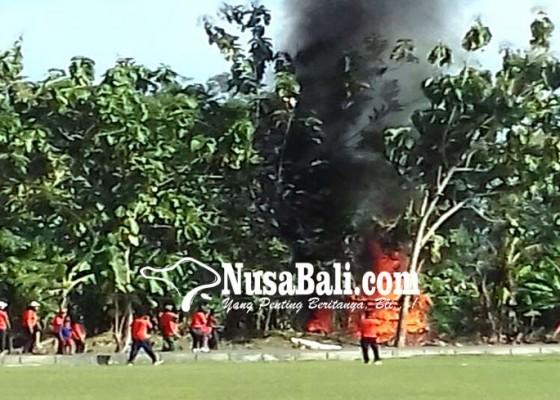 Nusabali.com - di-buduk-bpbd-badung-simulasi-bencana-kebakaran