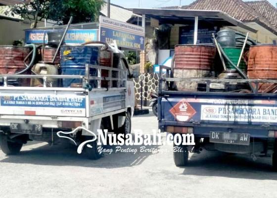 Nusabali.com - pick-up-pembawa-oli-bekas-diamankan