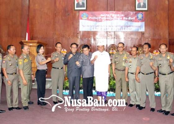 Nusabali.com - hut-satpol-pp-dipusatkan-di-bangli