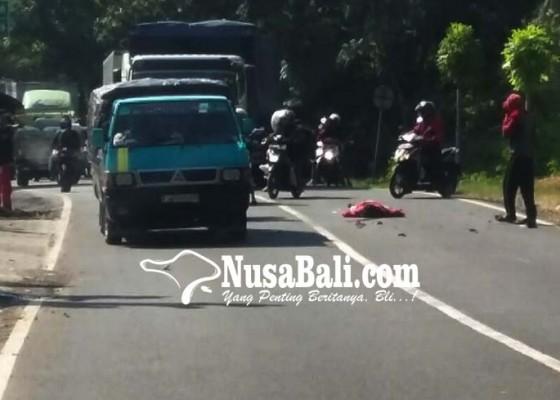 Nusabali.com - pemotor-tewas-dihantam-pick-up-hantu