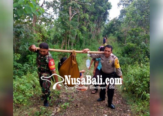Nusabali.com - melahirkan-di-jalan-dievakuasi-tnipolri