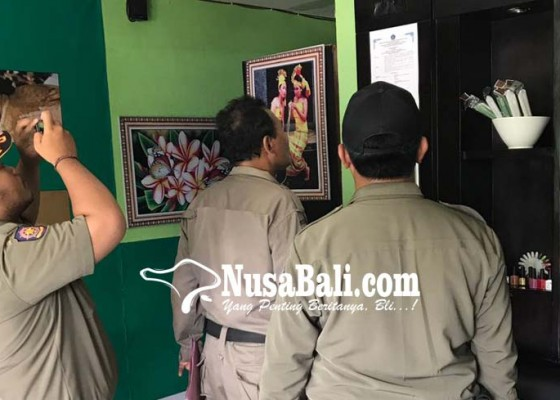 Nusabali.com - tiga-usaha-spa-tak-berizin-terjaring-razia-satpol-pp