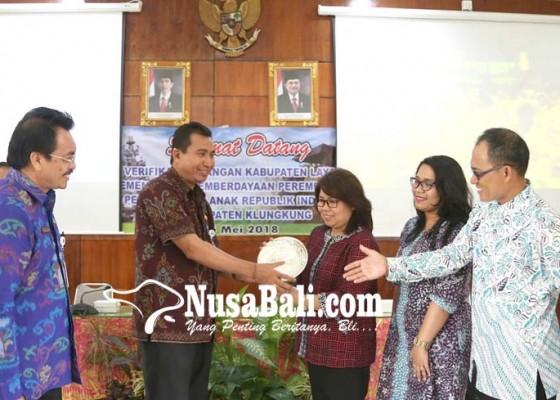 Nusabali.com - klungkung-diverifikasi-kementerian-pppa