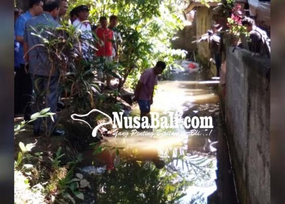 Nusabali.com - irigasi-meluap-rumah-tergenang