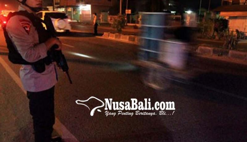 www.nusabali.com-antisipasi-lempar-batu-12-jpo-dijaga-polisi