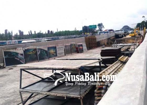 Nusabali.com - pengerjaan-fisik-proyek-underpass-dihentikan-sementara