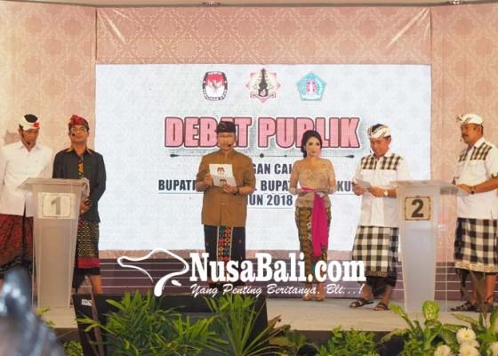 Nusabali.com - debat-terakhir-pilkada-klungkung-panas