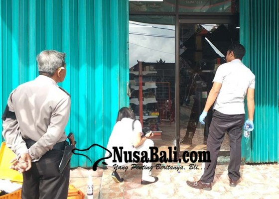 Nusabali.com - toko-bahan-bangunan-dibobol-maling-uang-dan-laptop-raib