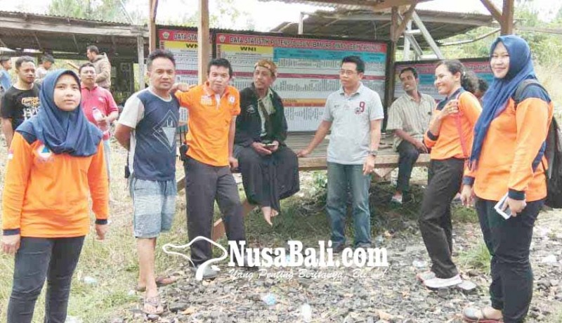 www.nusabali.com-warga-sogra-bangun-pos-pantau-gunung-agung