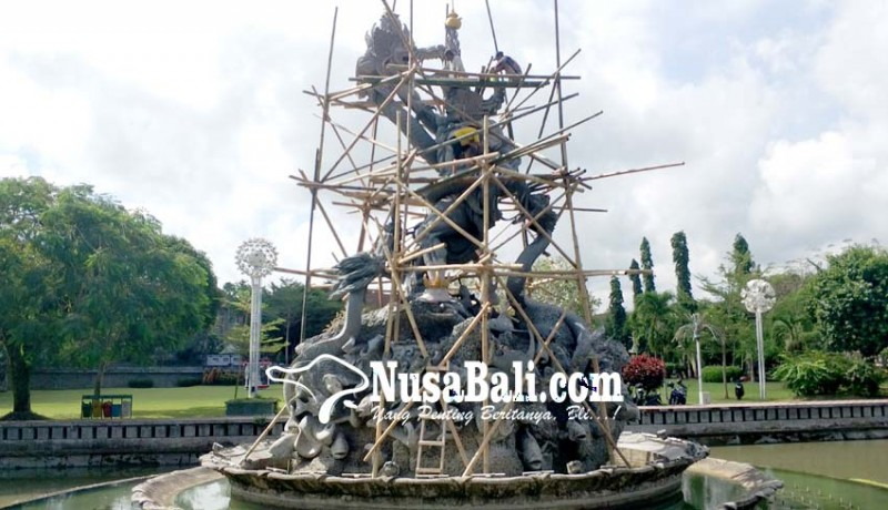 www.nusabali.com-jelang-hut-patung-dewa-ruci-diwarnai
