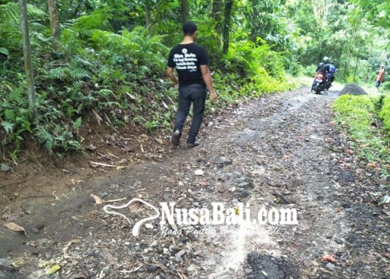 Nusabali.com - jalan-kabupaten-di-tanggahan-peken-rusak-berat