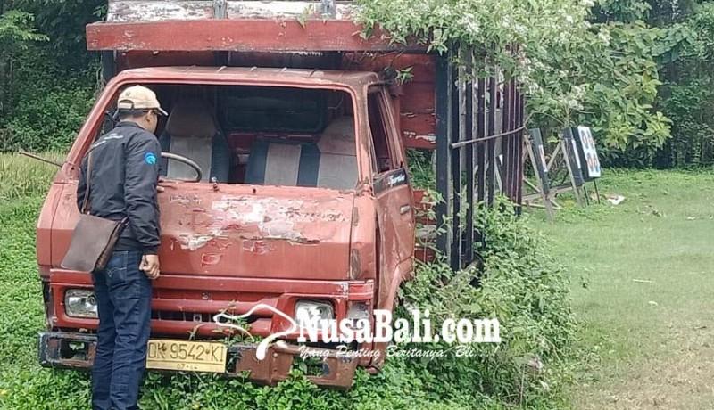 www.nusabali.com-ditinggal-pemilik-truk-mangkrak-ditumbuhi-rumput-liar
