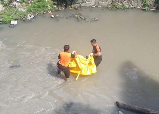 Nusabali.com - mayat-mengapung-di-sungai-gegerkan-warga