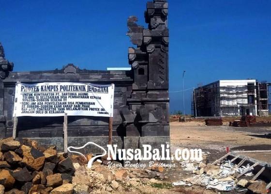 Nusabali.com - pemasok-material-tuntut-pelunasan-hutang-kontraktor-poltek-kp-jembrana