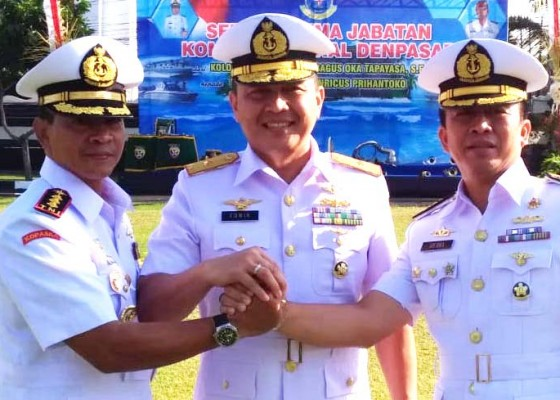 Nusabali.com - kolonel-laut-p-henricus-prihantoko-jabat-danlanal-denpasar