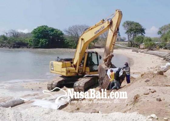 Nusabali.com - penataan-pantai-selagan-tahap-satu-hampir-rampung
