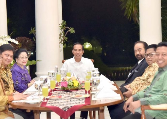 Nusabali.com - 6-ketum-pendukung-lengkap-dinner-koalisi-bareng-jokowi