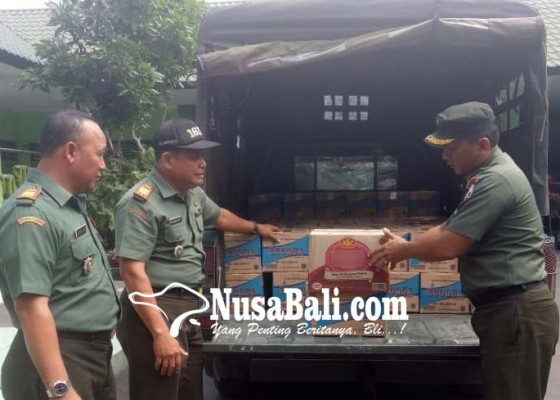 Nusabali.com - kodim-tabanan-peduli-lombok-kirim-bantuan-sembako