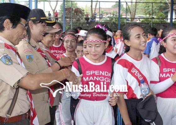 Nusabali.com - smpn-2-manggis-dan-smpn-3-bebandem-juara-pramuka