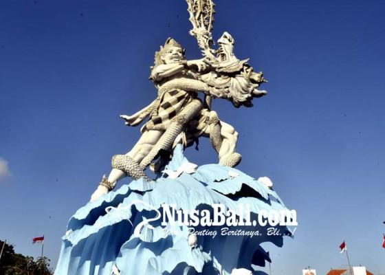 Nusabali.com - patung-dewa-ruci-retak-akibat-gempa