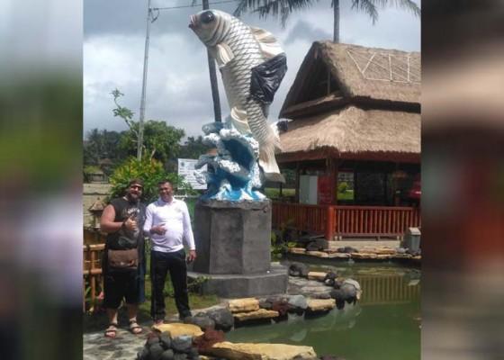 Nusabali.com - obyek-wisata-tukad-unda-dilengkapi-ikon-ikan-nila