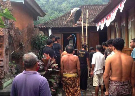 Nusabali.com - kantor-desa-tenganan-terbakar