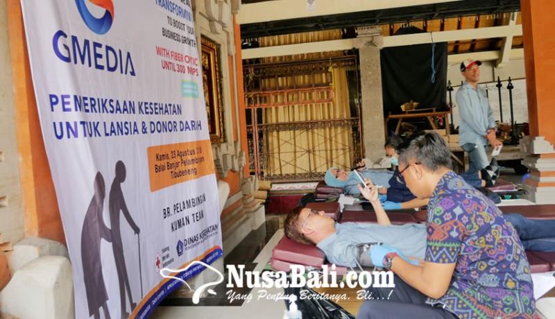 www.nusabali.com-gmedia-gelar-aksi-periksa-kesehatan-gratis-bagi-lansia-dan-donor-darah
