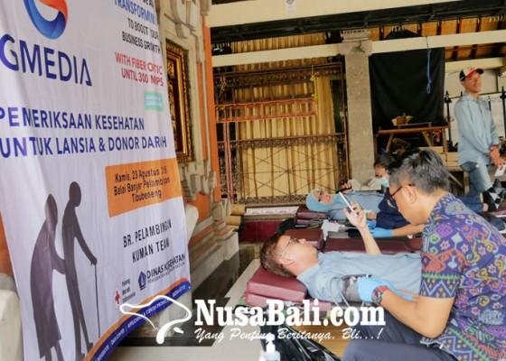 Nusabali.com - gmedia-gelar-aksi-periksa-kesehatan-gratis-bagi-lansia-dan-donor-darah