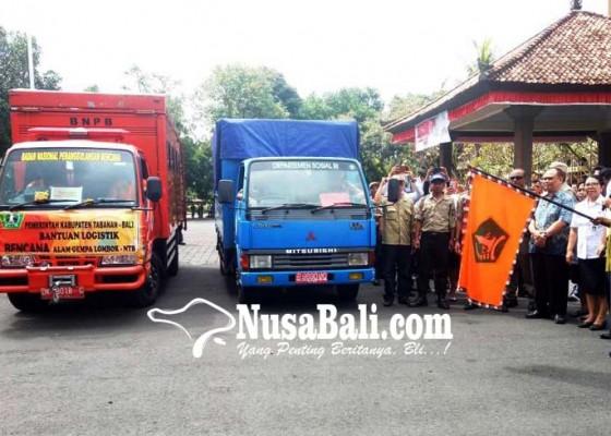 Nusabali.com - bpbd-dan-tagana-tabanan-kawal-sumbangan-logistik-ke-lombok