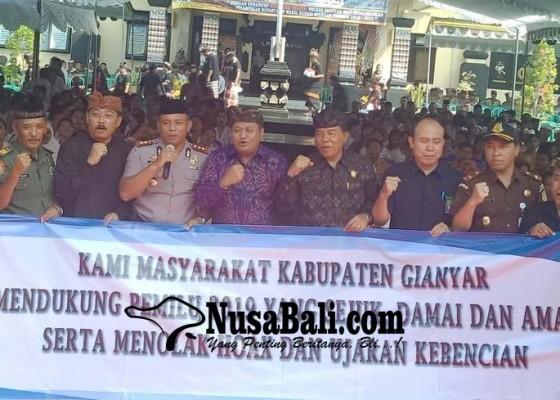 Nusabali.com - polres-gianyar-gelar-doa-bersama-lintas-agama