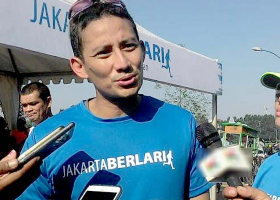 Nusabali.com - cawapres-sandiaga-ikut-lari-bali-marathon