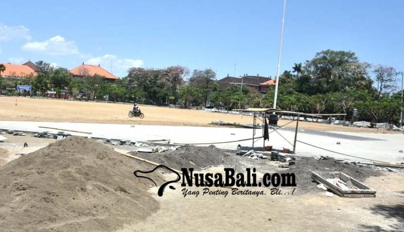 www.nusabali.com-progres-penataan-lapangan-lumintang-capai-65-persen